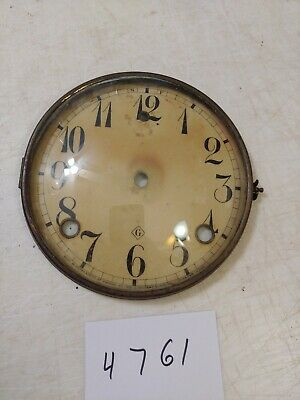 Antique Gilbert Cathedral Arch Mantle Clock Dial & Bezel & Glass