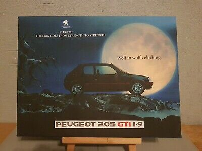 Peugeot 205 1.9 Gti Framed Picture Print 30x20 Inch Canvas Art