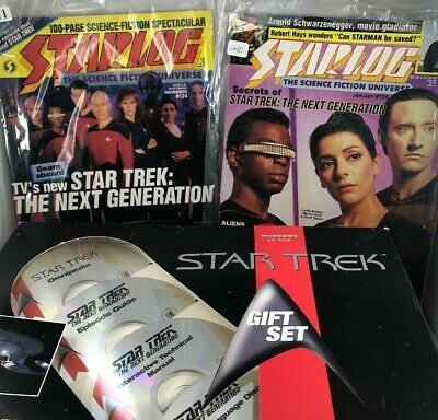 Star Trek Next Generation Gift Set and Two Starlog Magazine Features 1987/1988