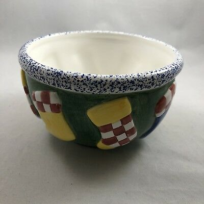 Christmas Candy Marshmallow Bowl Handcrafted LOTUS 1995 Ceramic QQ