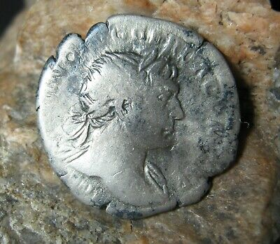 Ancient silver coin Denarius Roman Empire TRAJAN 98-117