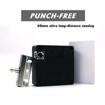 Hidden Electronic Cabinet Door Drawer Lock Auto Safety Security Black Card New