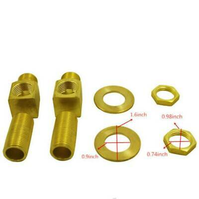 """For T&s Brass Short Elbow Install kit 1"""" Brass Includes 1/2"""" Nipple B0230-K"""