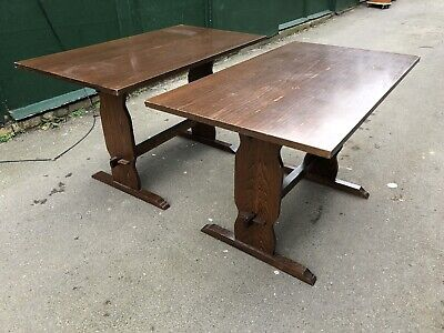 Pair of Wooden Pub Tables (Cafe / Restaurant / Bistro / Dining Tables)