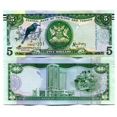 P-NEW UNC Re-designed 100 dollars 2014 2006 Trinidad and Tobago