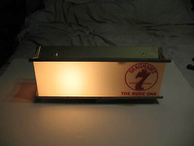 1950's Seagram's 7 Whiskey Old Tavern Working Light Up Sign Claremould Plastics