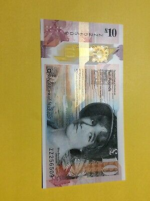Royal Bank £10 Polymer ZZ256509 REPLACEMENT 2016 UNCIRCULATED