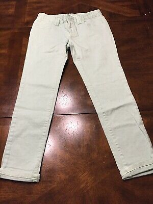 GAP KIDS 1969 GIRLS SUPER SKINNY ADJ. WAIST JEANS 12 Mint Green Color