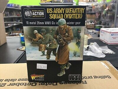 Bolt Action US Army Infantry Squad (Winter) (10) In Box