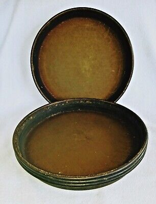 "3 Med 12"" Pizza Hut Pans Commercial Grade Well Seasoned  Vgc"