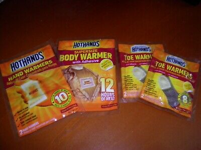 New HotHands Hot Hand Warmers Toe Warmers Body Hand Warmers Packs Lot