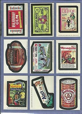 Wacky Packages 1975 Series 14 Complete Set Nm