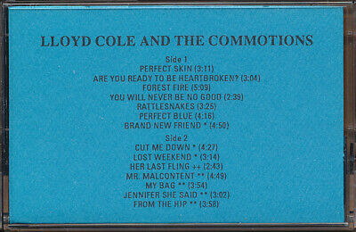Lloyd Cole and The Commotions 1984-1989 RARE promo advance cassette 1989