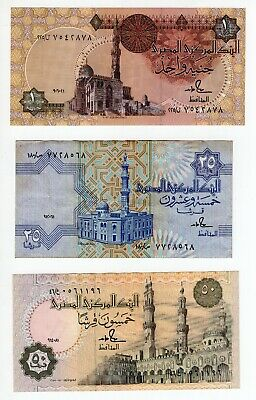 EGYPT 25 PT 1984 P-54 SIG//SHALABY #16 LOT X5 UNC NOTES *//*