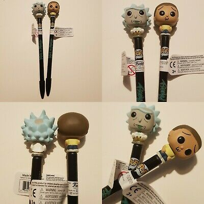 Rick And Morty Funko Pop Pen Topper  2Pc Set Free Uk Delivery