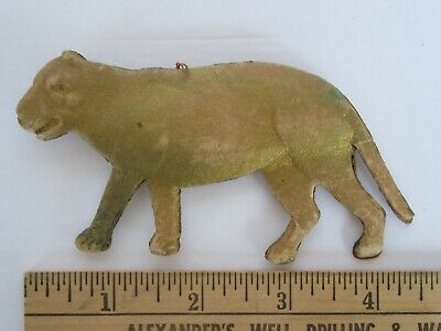 RARE Antique German (?) Russian (?) Dresden Lioness Paper Christmas Ornament