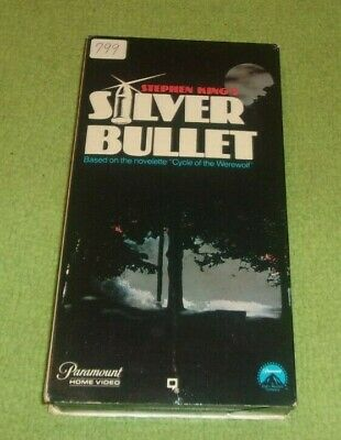 Stephen King's Silver Bullet VHS Horror Tested Nice Condition Werewolf's 1986