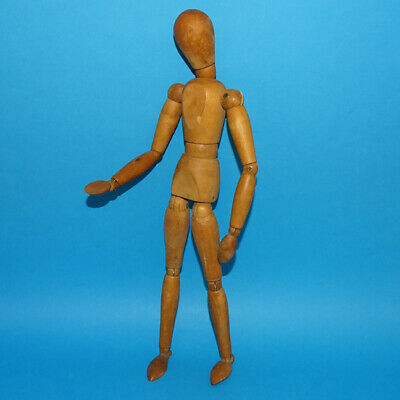 Vintage Wooden Articulated Artist Model Jointed Figure Human Form 12 Inch