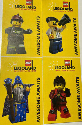 4 Pack of LEGOLAND California Physical Tickets Adult Or Child. Expire 1/11/21