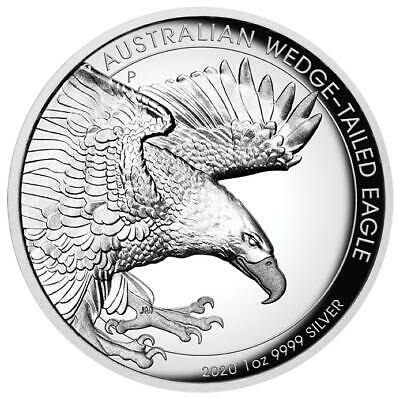 2020 Australian Wedge-Tailed Eagle 1oz .9999 Silver Proof HIGH RELIEF Coin - PM