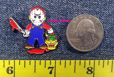 Friday the 13th Game Tommy Jarvis Vintage Cassette Tape Hard Enamel Lapel Pin