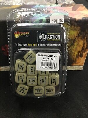 Bolt Action Orders Dice Sand (12)