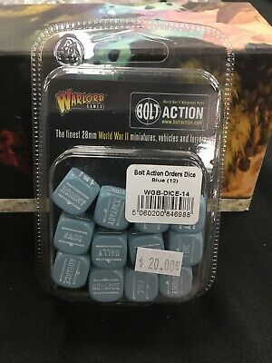 Bolt Action Orders Dice Blue (12)