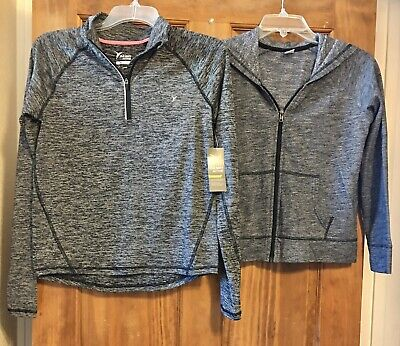 Old Navy Girls Lot Of 2-Gray Pullover Top XL-14 NWT /Gray Zip Hoodie L-10-12 EUC