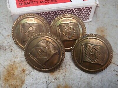 Military  Naval   Uniform Buttons  Four