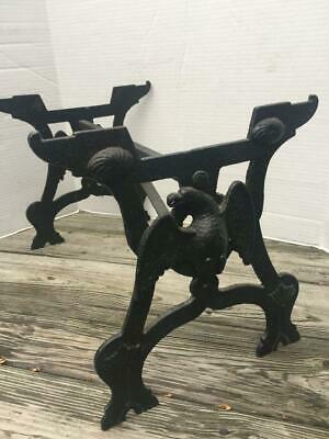 Antique Eagle Cast Iron Stove Heater Stand Industrial Age Coffee Table Stand