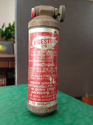 Vintage Fire Extinguisher 1950's collectable by Presto.