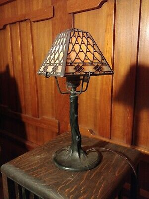 Handel closed top fish scale desk lamp,mission,arts and crafts, lamp.