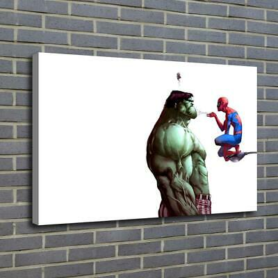 Funny Hulk Spiderman HD Canvas prints Painting Home decor Picture room Wall ar