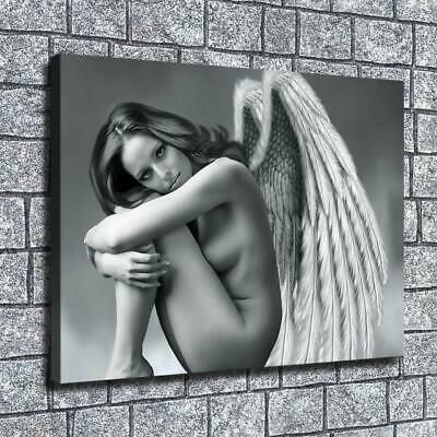 Fantasy Angel girl naked HD Canvas prints Painting Home decor Picture Wall art