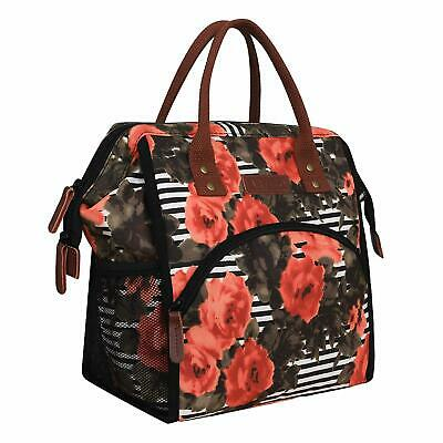 Lunch Bags Women Wide Open Large Capacity Cooler Tote Bag Heat Insistant