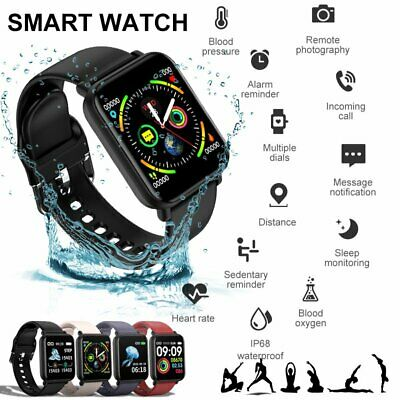 Smart Watch Women Men Wristband IP68 Fitness Tracker Heart Rate For iOS Android