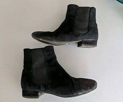 M&S kids girls Black suede Ankle Boots - Size UK 13 / 32 EUR