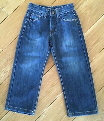 Boys Straight Leg Blue Jeans Size 4 Years