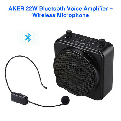 Wireless Bluetooth PA Voice Amplifier Speaker Megaphone with Wireless Microphone
