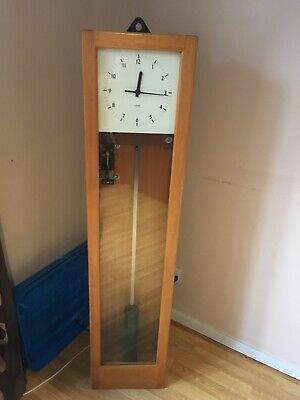 Gents of Leicester master clock wooden case was working when removed. 2 x keys
