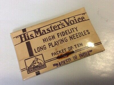 Antique HMV His Masters Voice Long Playing Needles Packet C1910 New Old Stock