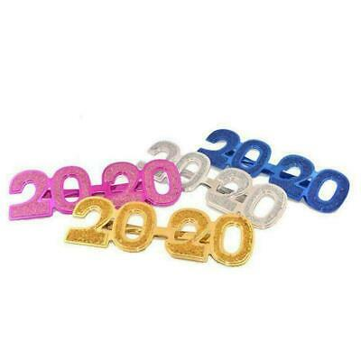 Cute Glitter 2020 Eyeglass New Year's Eve Party Glasses Eyewear Prop Photo M1E1