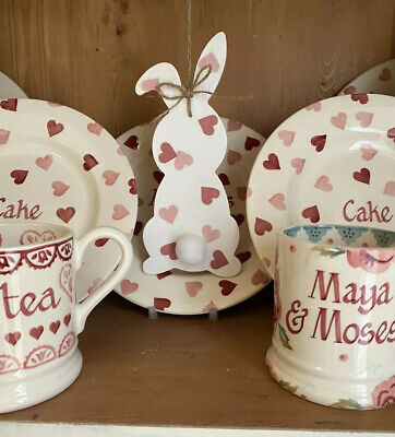 Emma Bridgewater Themed Hanging Bunny / Hare / Easter - Pink Hearts