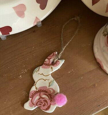 Emma Bridgewater Themed Clay Tag - Bunny - Rose And Bee