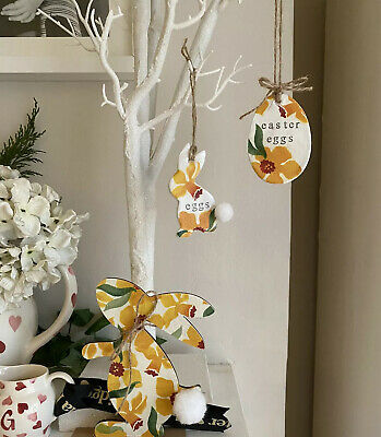 Emma Bridgewater Themed - Easter Bunny / Hare & Eggs - Set Of 3