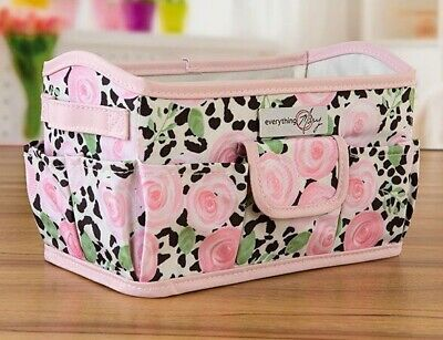 Everything Mary Rectangle Organiser - Floral Leopard Print  - Brand New