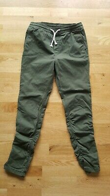Boys H&M Khaki Zip Bottom Chinos. Size Eur 152 (11-12 Yrs)