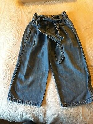 Girls Zara Trousers Jeans Coulottes Age 5