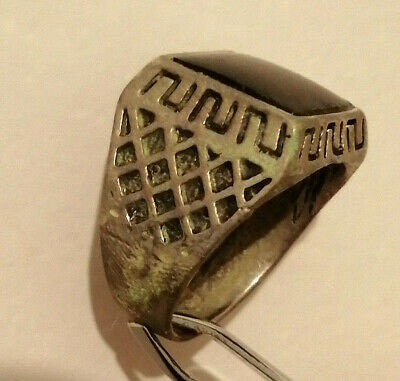 Extremely Rare Ancient Roman Ring Metal Color Silver Artifact Amazing
