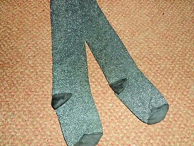 BNWOT Girls BLACK / SILVER sparkly / glittery TU Tights 9-10 YEARS
